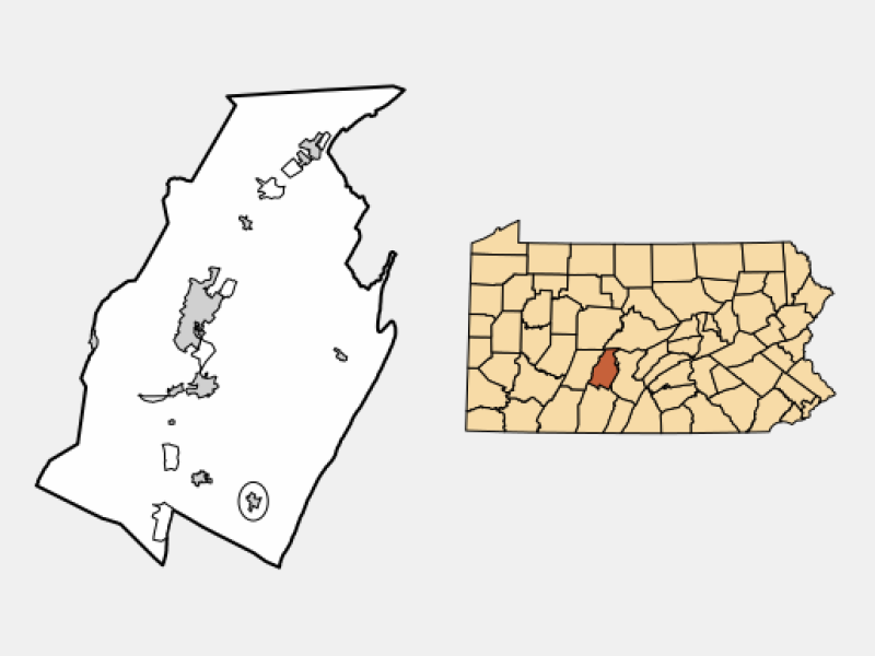 Martinsburg locator map