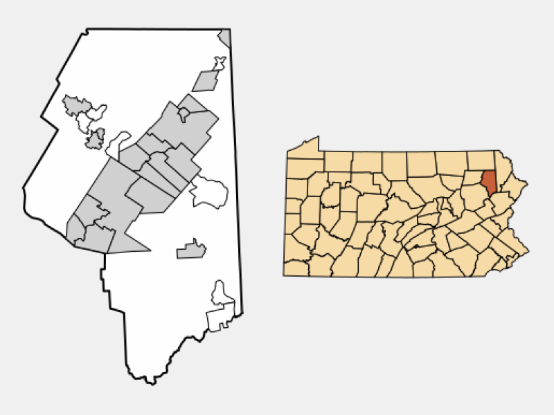 Mayfield locator map