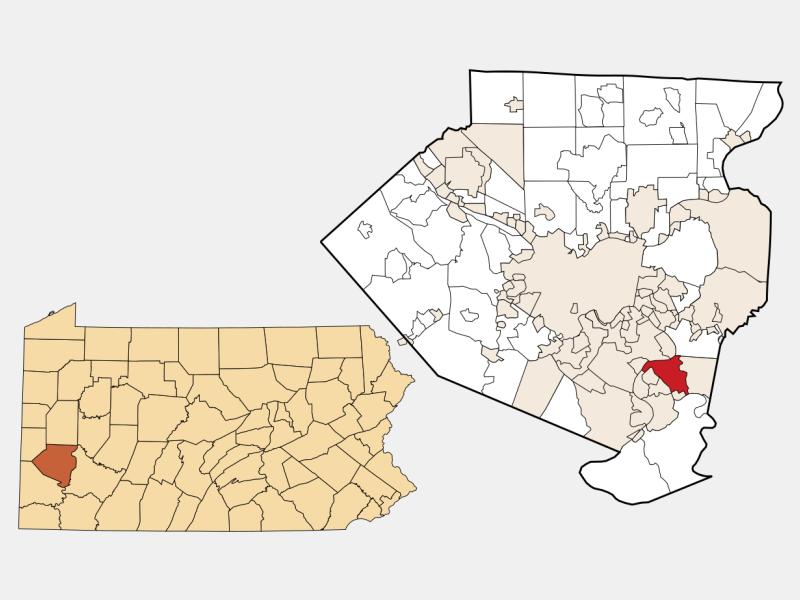 McKeesport locator map