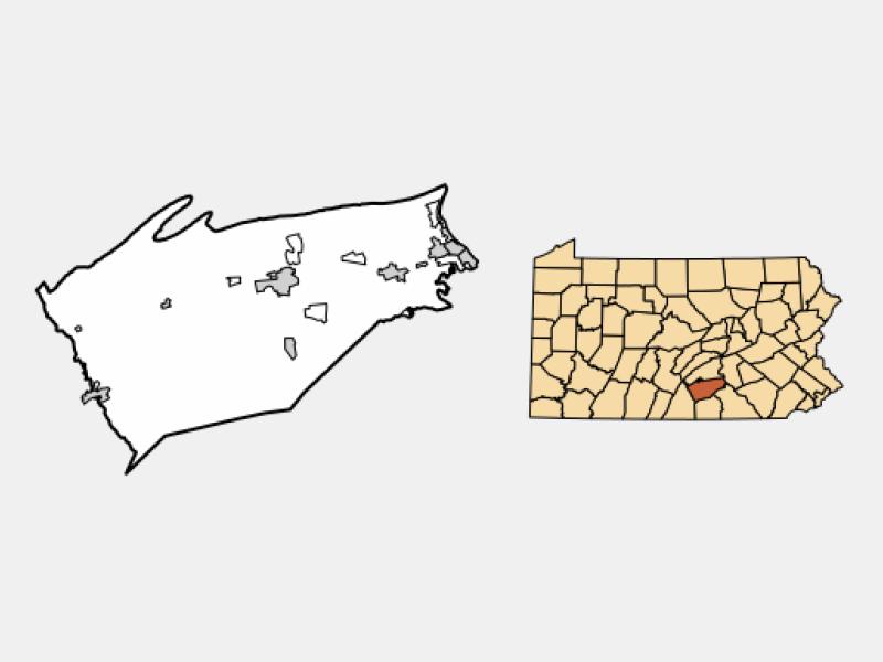 Mechanicsburg locator map