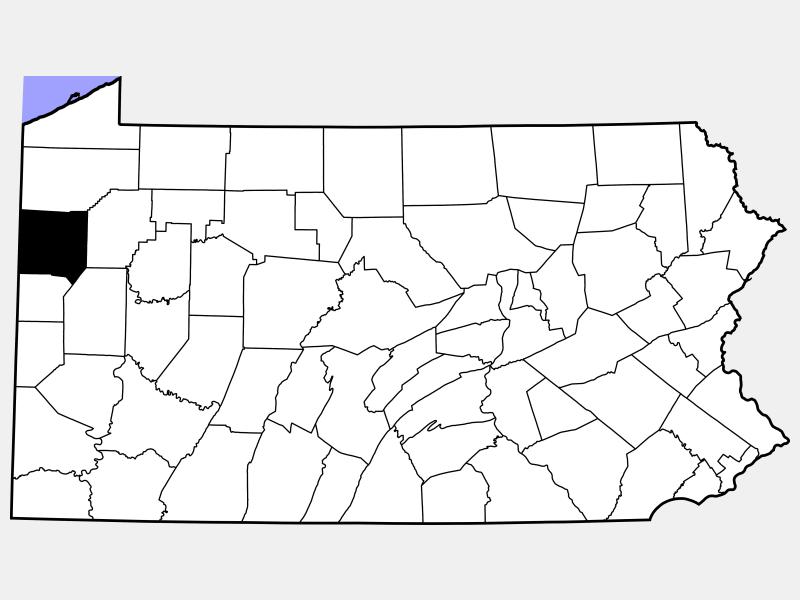 Mercer County locator map