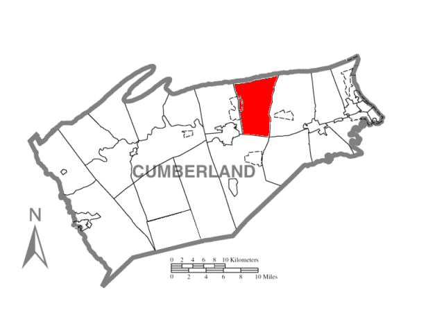 Middlesex locator map