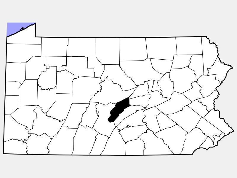 Mifflin County location map