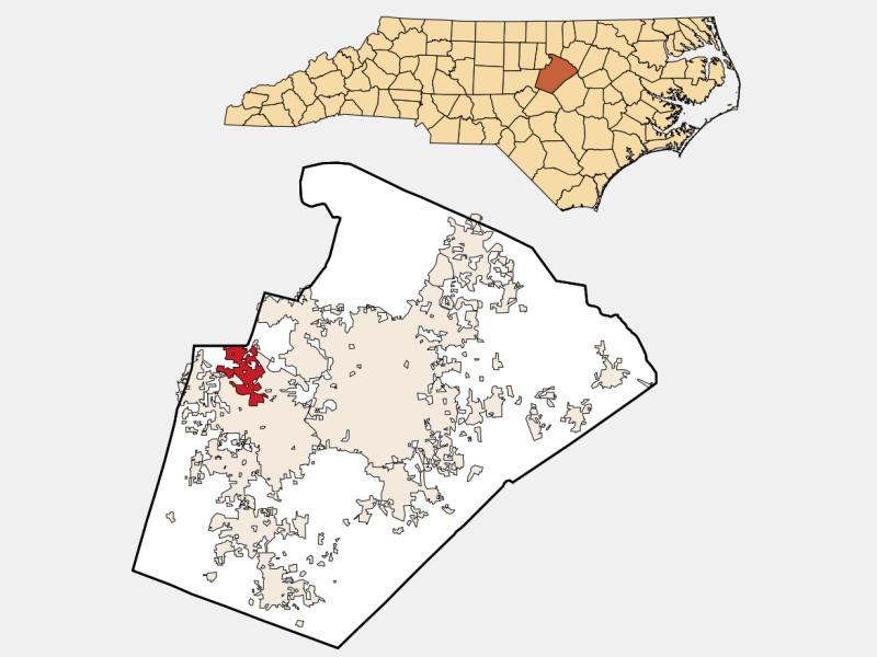 Morrisville locator map