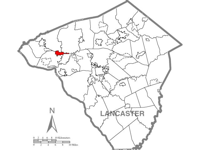 Mount Joy locator map