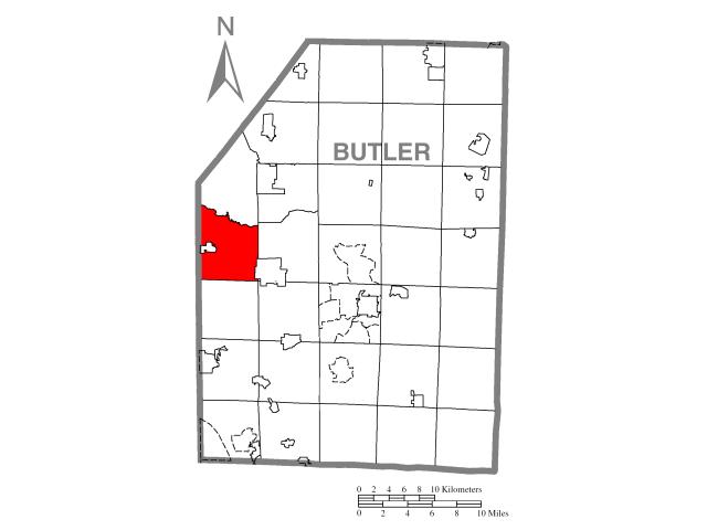 Muddy Creek locator map
