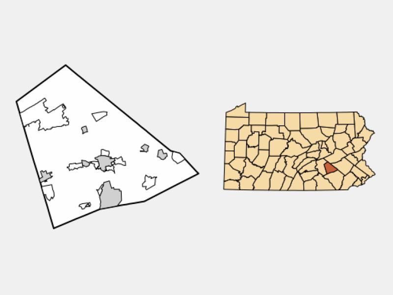 Myerstown locator map