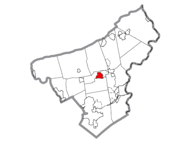 Nazareth locator map