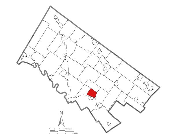 Norristown locator map