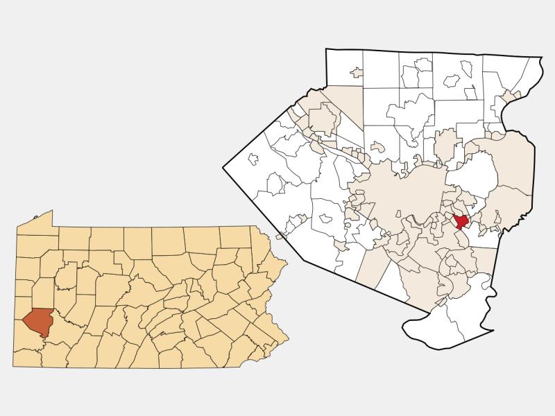 North Braddock location map