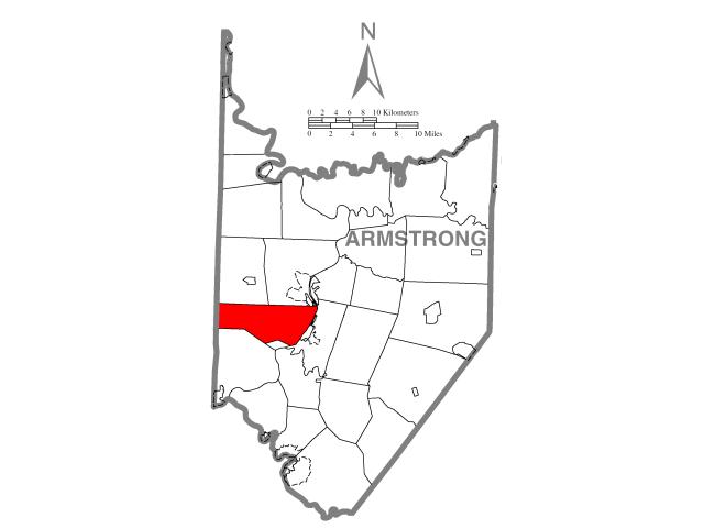 North Buffalo locator map