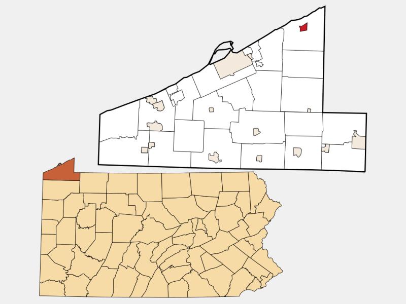 North East locator map