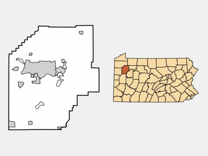 Oil City locator map