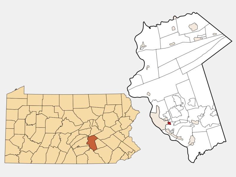 Paxtang locator map