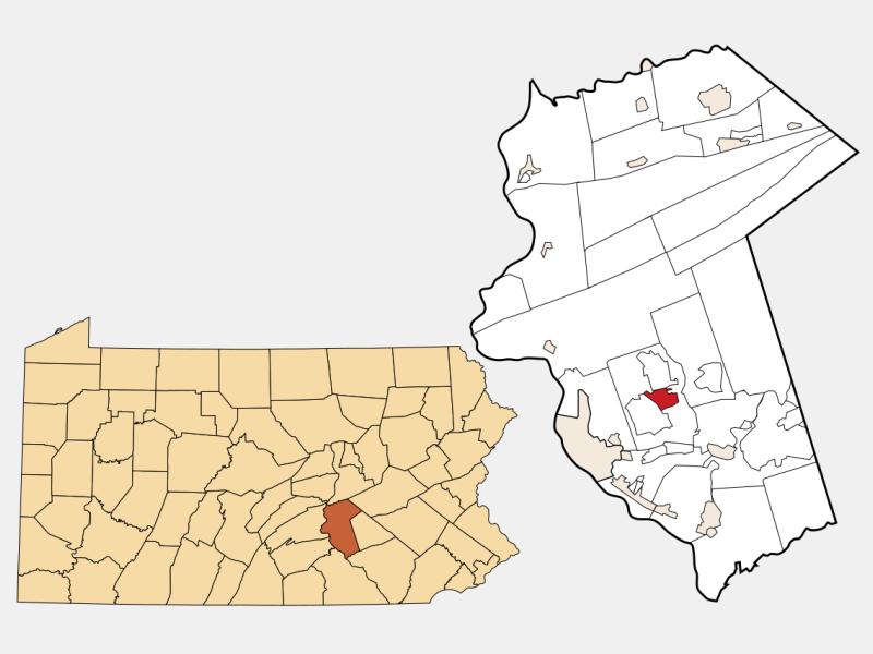 Paxtonia locator map
