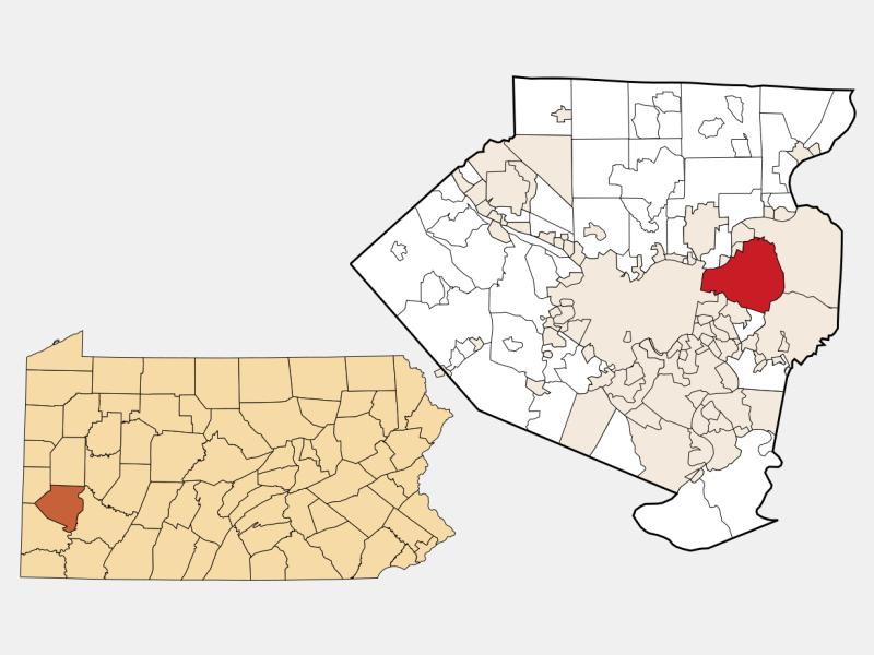 Penn Hills locator map