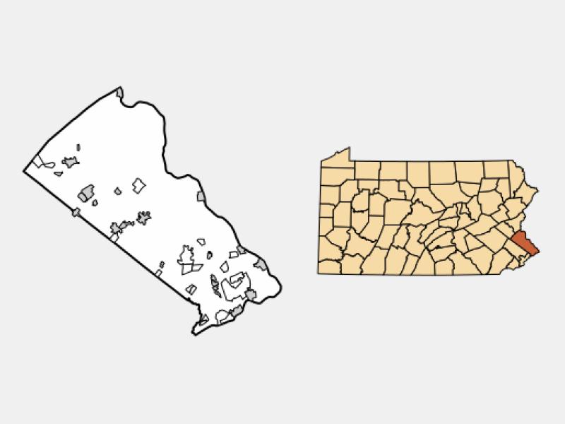 Perkasie locator map