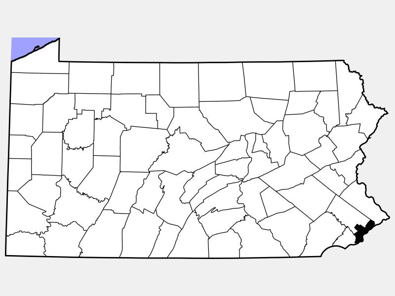 Philadelphia County locator map
