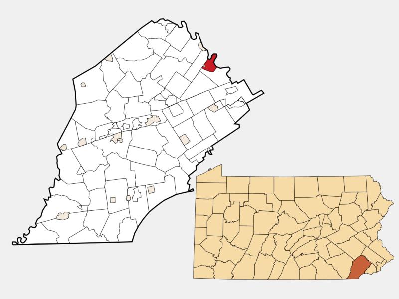 Phoenixville locator map