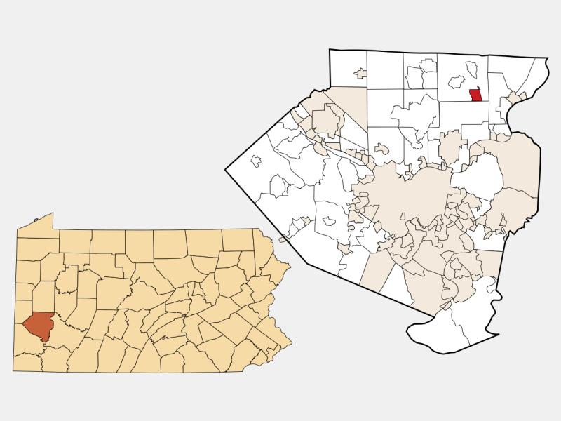 Russellton location map