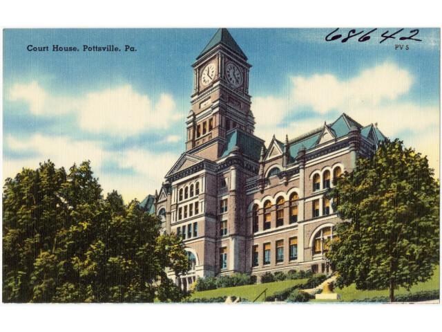 Court house  Pottsville  Pa '68642' image