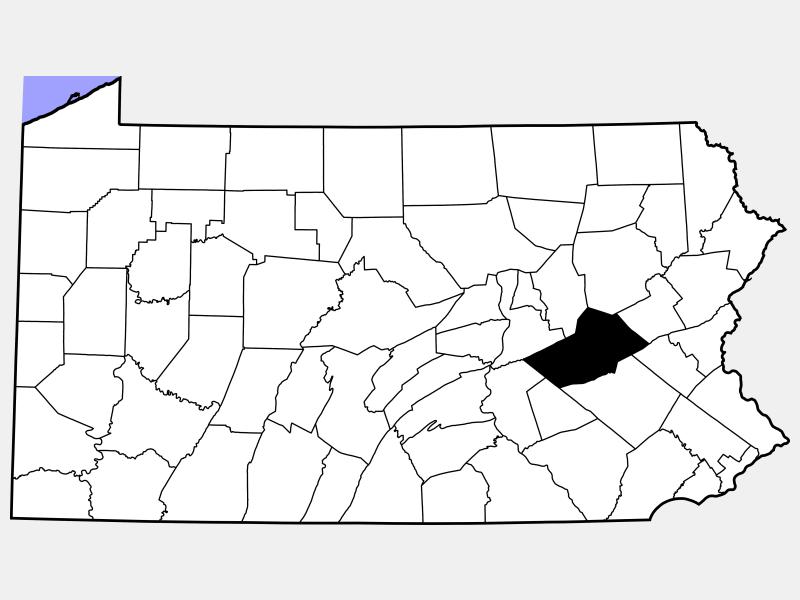 Schuylkill County locator map