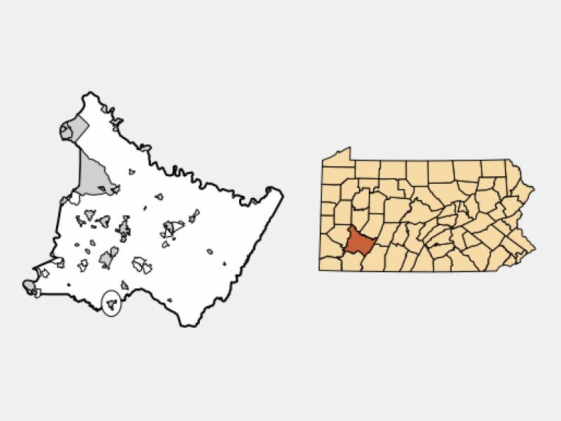Scottdale locator map