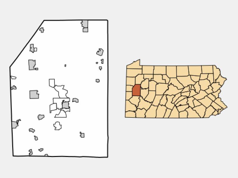 Slippery Rock locator map