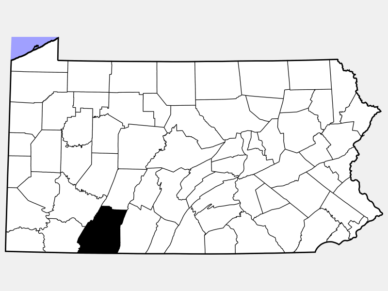 Somerset County locator map