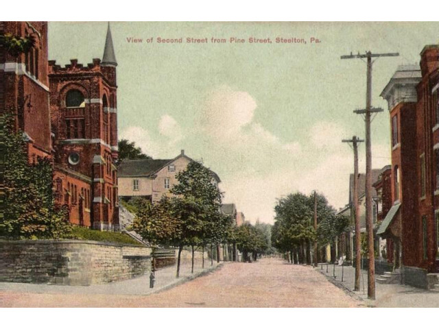 View of Second Street from Pine Street  Steelton  PA image