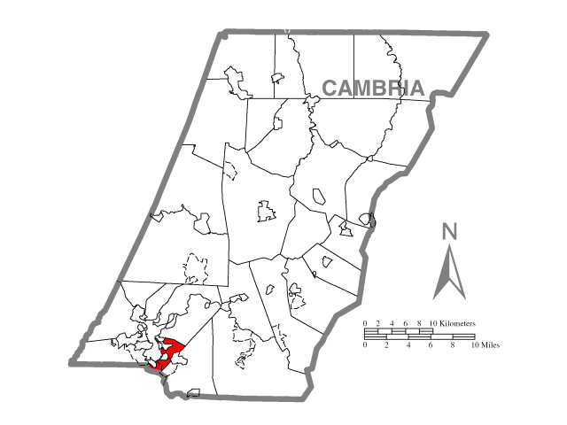 Stonycreek locator map