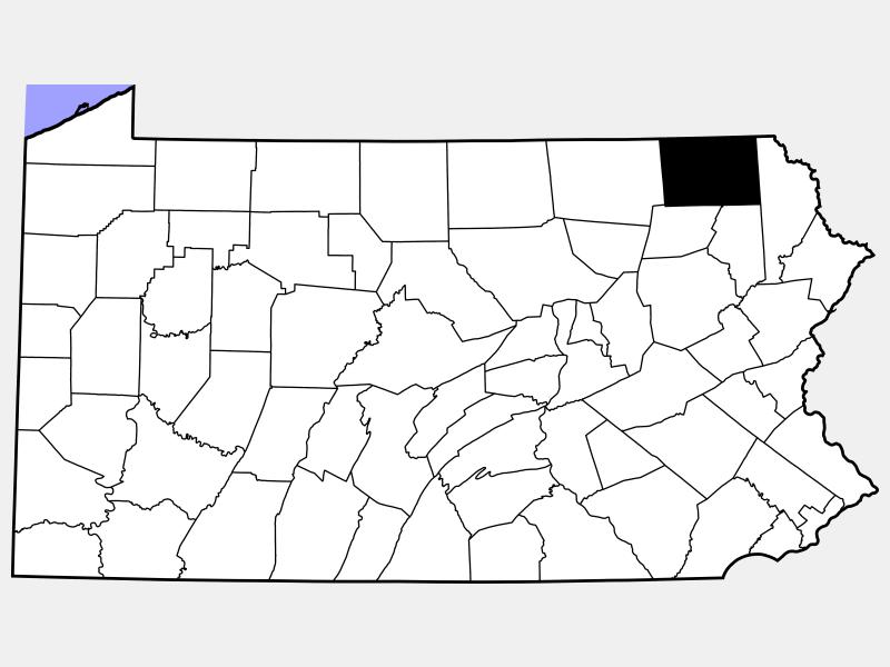 Susquehanna County locator map