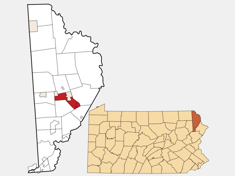 Texas locator map