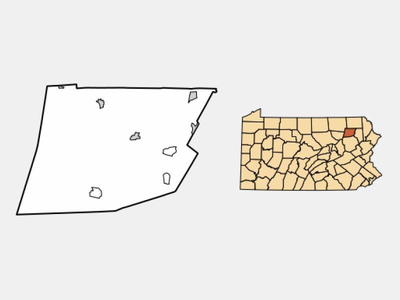 Tunkhannock location map