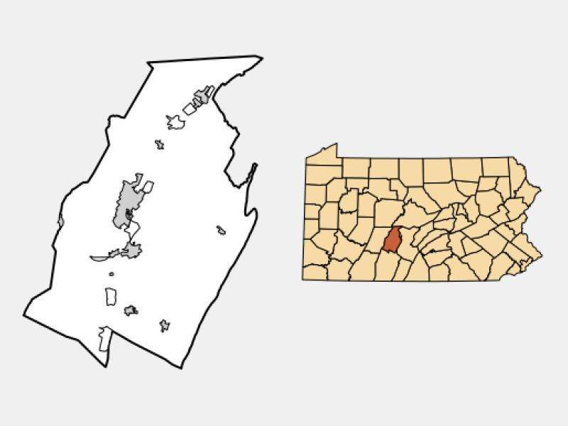 Tyrone locator map