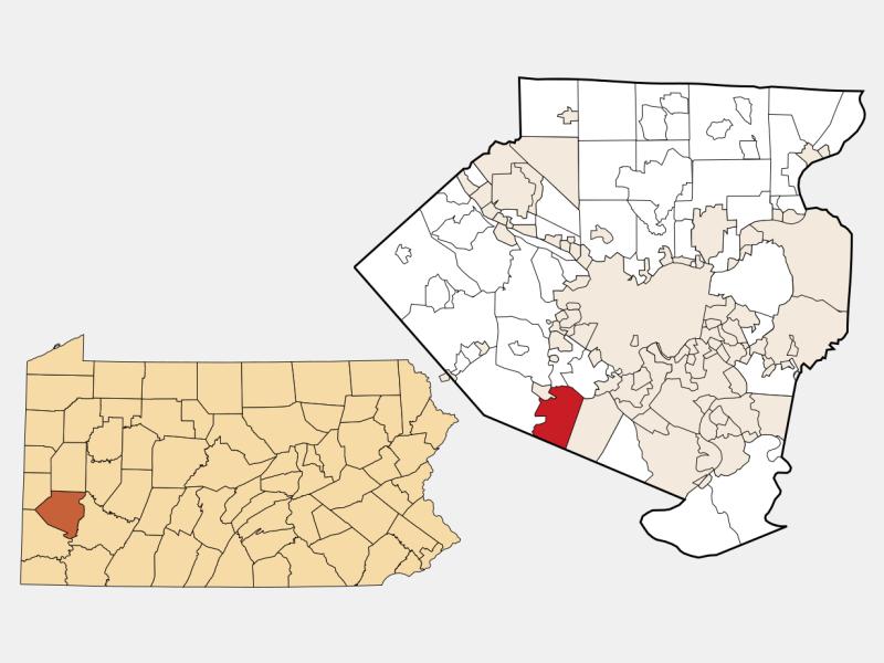 Upper Saint Clair locator map