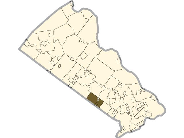 Warminster location map