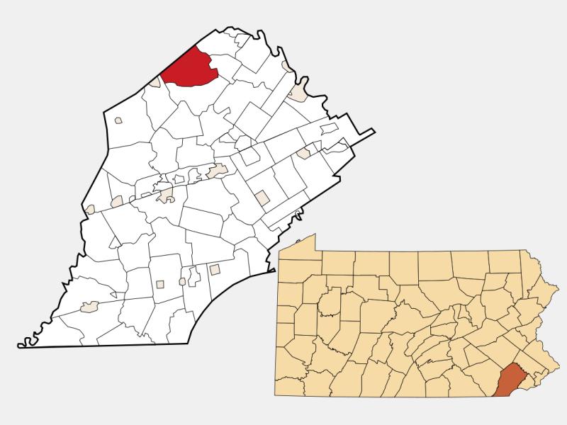 Warwick locator map