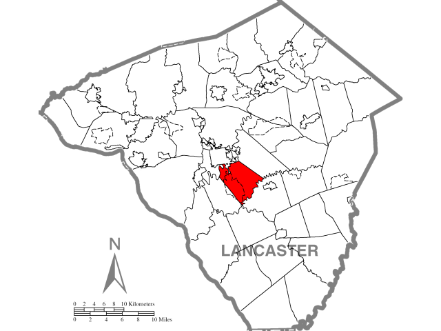 West Lampeter locator map