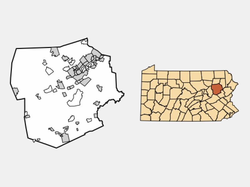 West Pittston location map