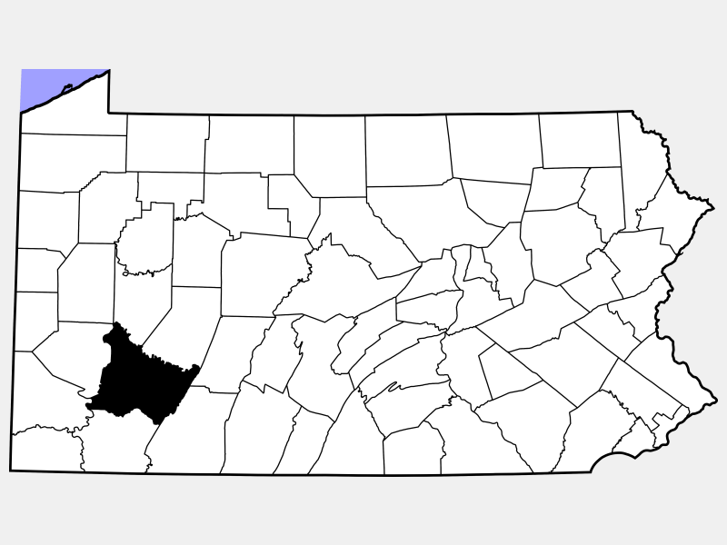 Westmoreland County location map