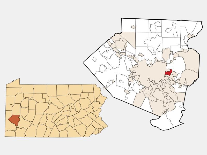 Wilkinsburg locator map