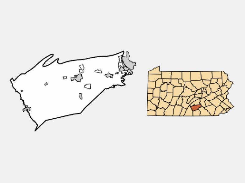 Wormleysburg locator map