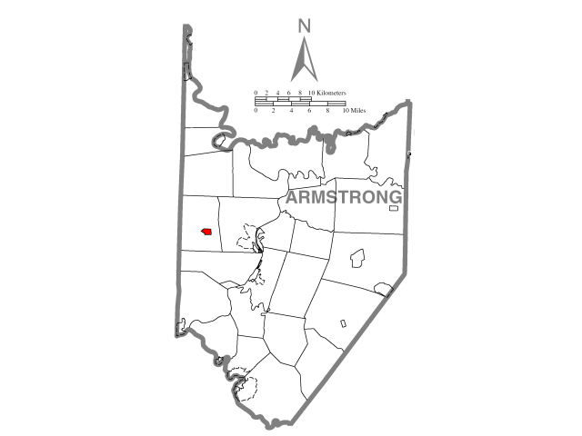 Worthington location map