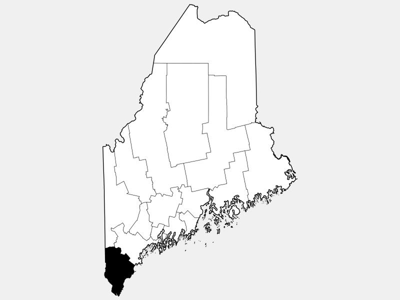 York County locator map