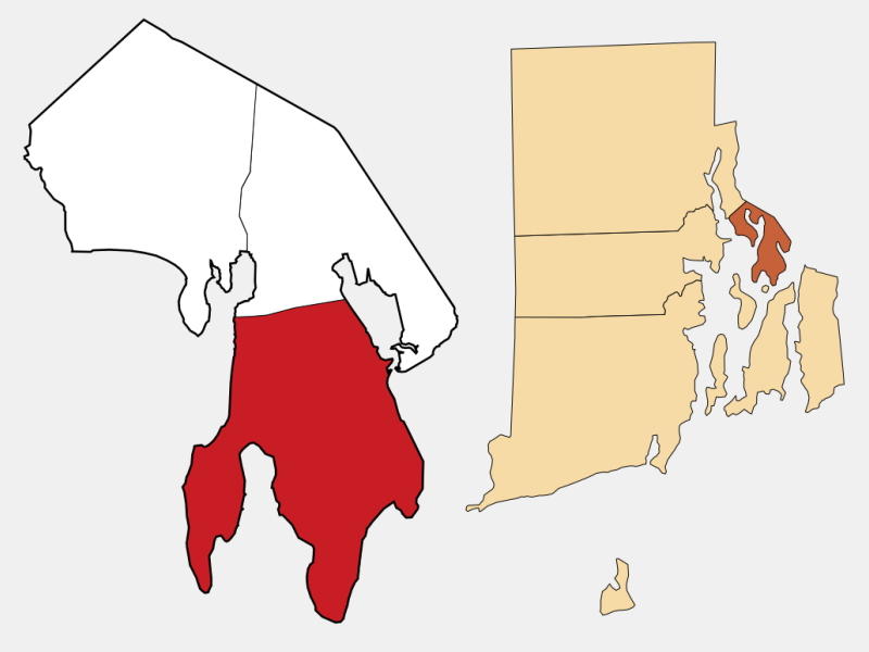 Bristol, RI locator map