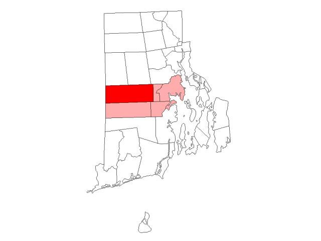 Coventry, RI locator map