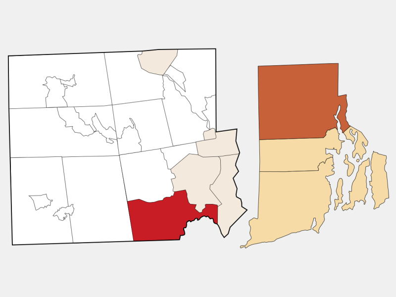 Cranston, RI locator map