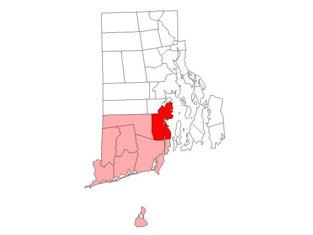 North Kingstown locator map