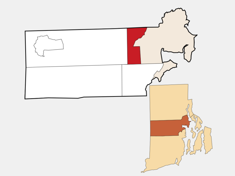 West Warwick, RI locator map